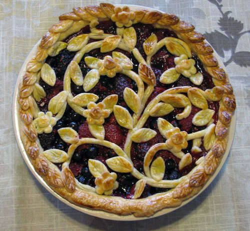 Triple Berry Pie ---    If you think you're ready to tackle it, the author of this recipe also details how to create this amazing crust!