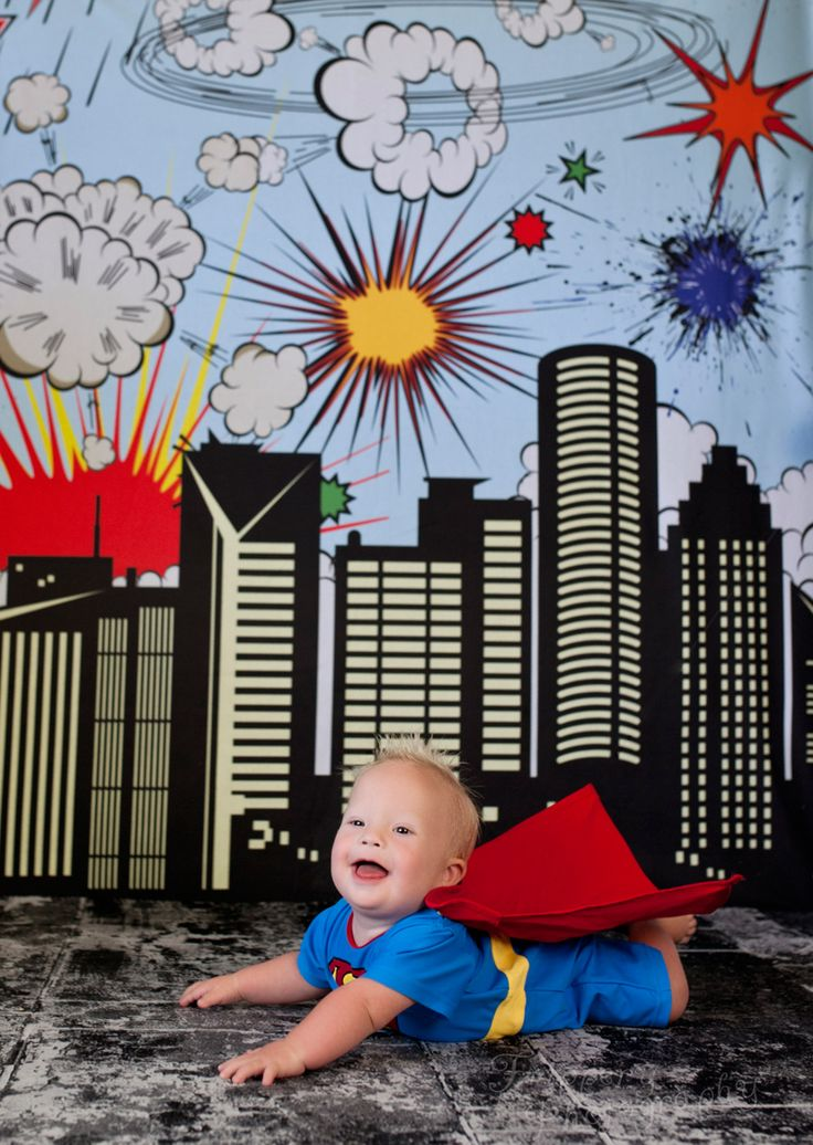 super hero themed photography backdrops for parties events & photoshoots