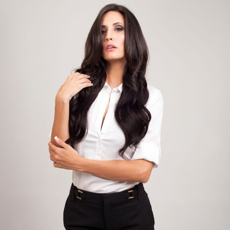 Brown Black FrontRow Clip-In Hair Extensions on model Kylie :) Avaliable for purchase at www.frontrow.co.za