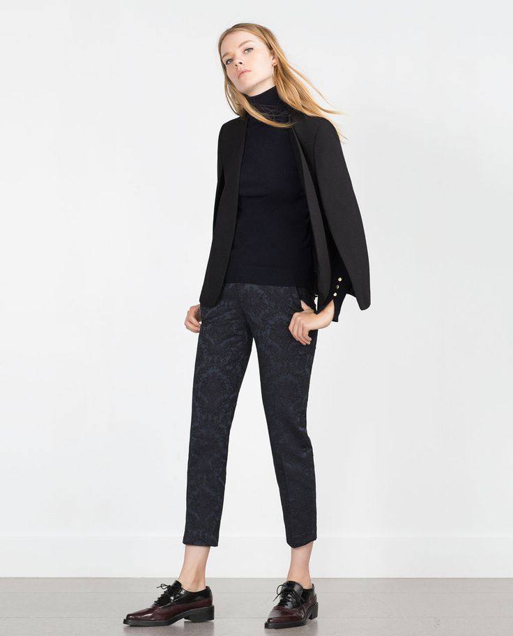 JACQUARD HERRINGBONE LEGGINGS-View all-Trousers-Woman-COLLECTION SS16   ZARA United States