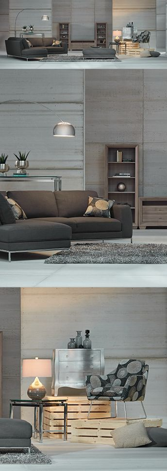 Style well spent: Our $5,000 modern living room offers hints of retro appeal and metallic accents.