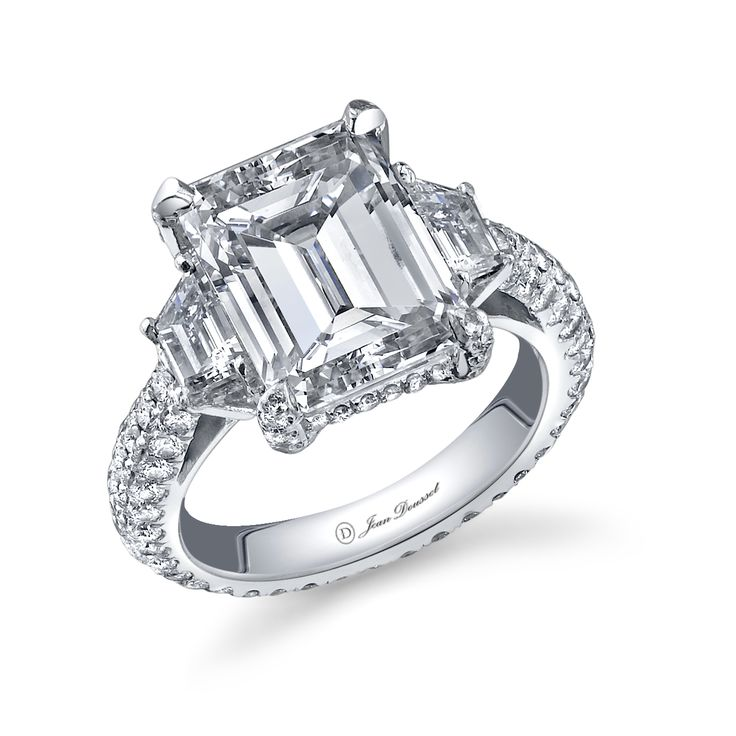 Eva Longoria's Emerald Cut Engagement Ring by Jean Dousset