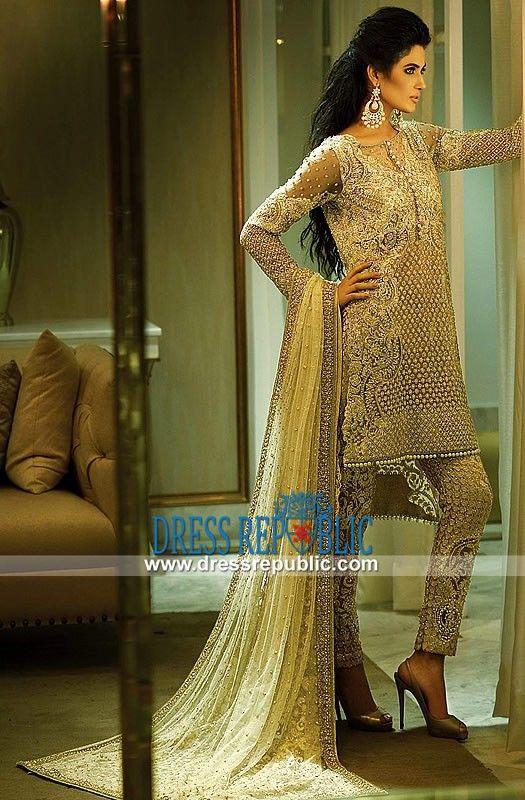 Pakistani Designer Faraz Manan Ivory Bridal Wear Collection 2015