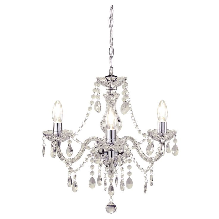 Wilko Marie Therese Chandelier Clear 3 Arm