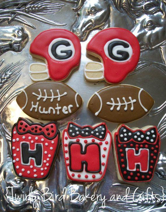 Georgia Bulldog Cookies