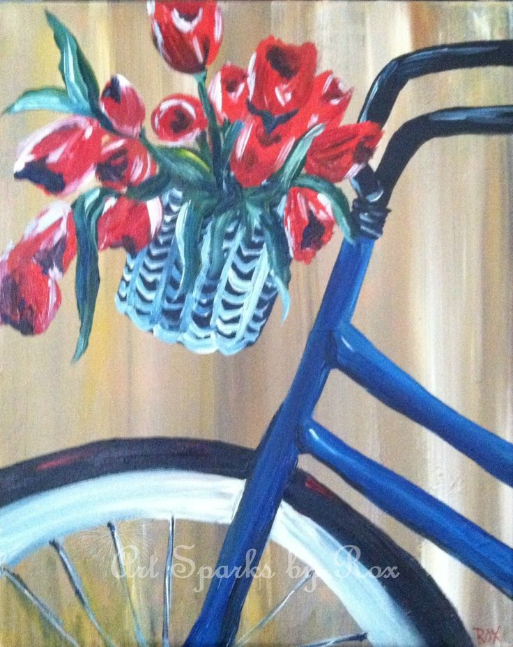 82 best images about paint nite ideas on pinterest for Bicycle painting near me