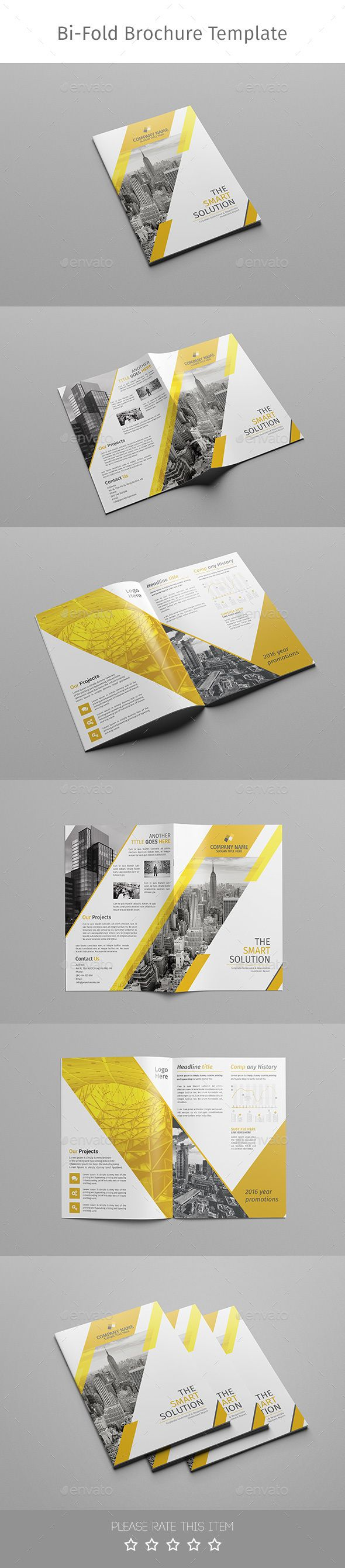 Corporate Bi-fold Brochure-Multipurpose 02 This layout is suitable for any project purpose. Very easy to use and customise. Features bi-fold ( 4 Panel) A4 (21×29.7) with bleeds 3mm Photoshop Template (PSD) very well organized design editable layers change color easy all text is editable 300 DPI CMYK Colors