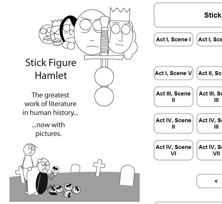 Screenshot from Stick Figure hamlet