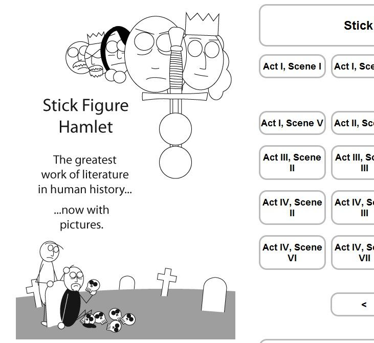 Screenshot from Stick Figure hamlet