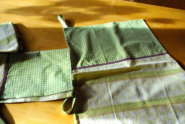 Geschirrtücher aus Bettzeug / Tea towels made from bed linen Upcycling