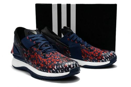 70e61853136e 2018 Cheap Priced Adidas Crazylight Boost Midnight Navy Gym Red ...