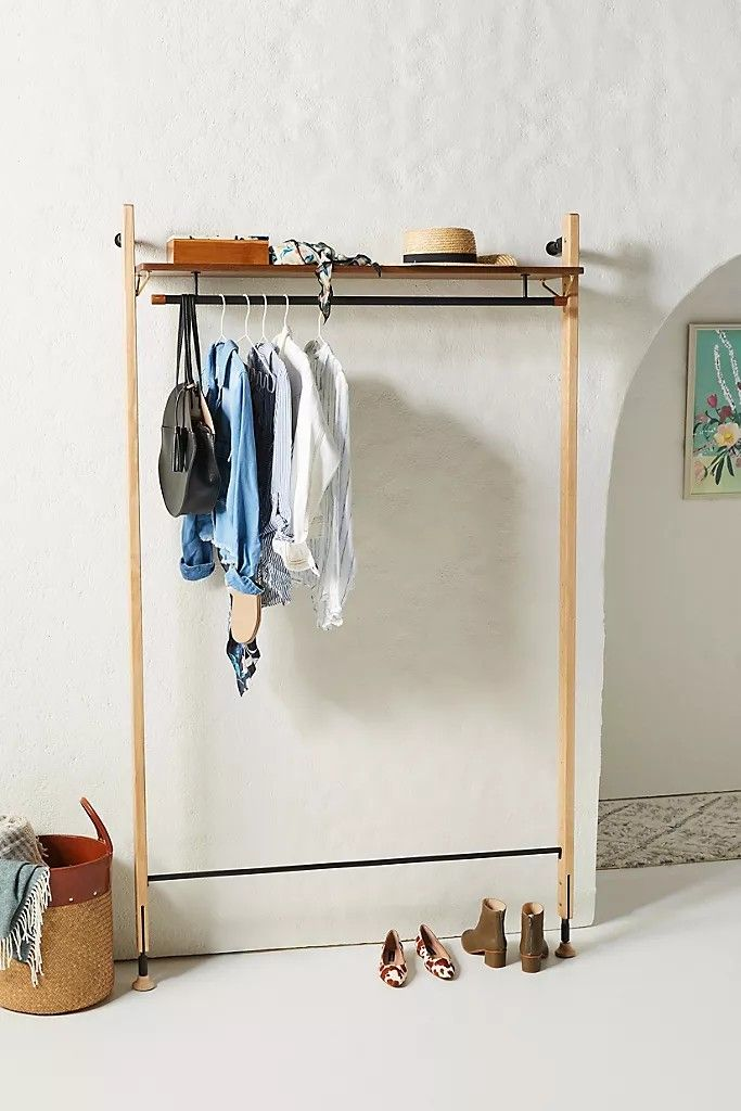 Theo Wall Mounted Clothing Rack In 2020 Wall Mounted Clothing