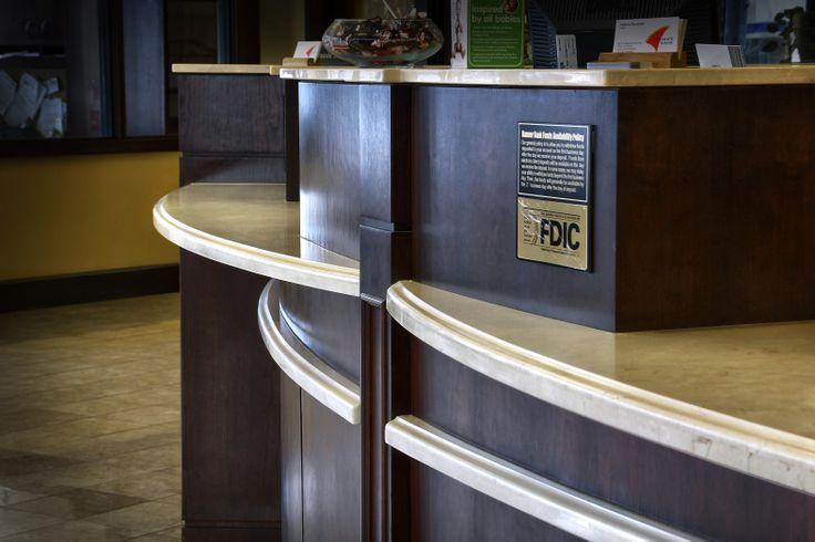 Teller Desk Edge Detail Edgedetail Ogee White Granite