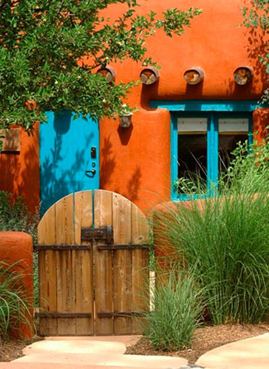 235 best southwestern landscaping and patio ideas images for Santa fe style homes