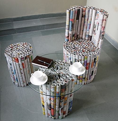 Newspaper Furniture