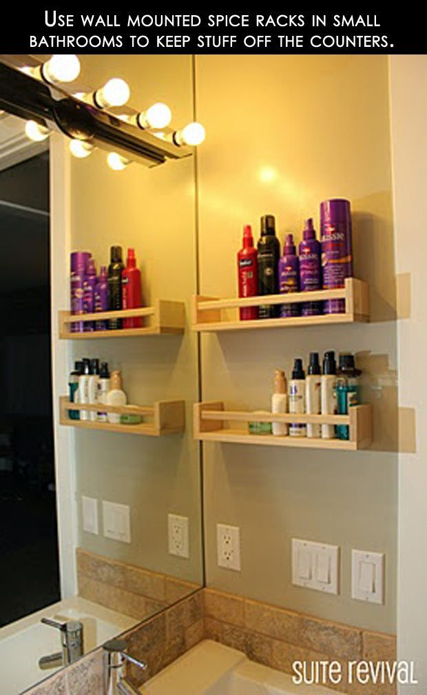 Use a Spice Rack for Hair Supplies
