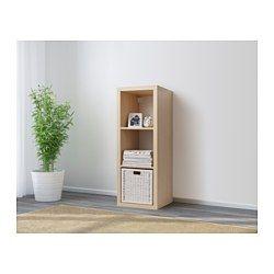 IKEA - KALLAX, Estantería, negro-marrón, , Puedes colocarlo en vertical u horizontal para usarlo como estantería o aparador.
