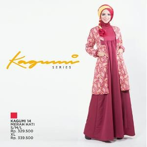 Baju Dress Pesta  Ethica- Kagumi 14 Merah