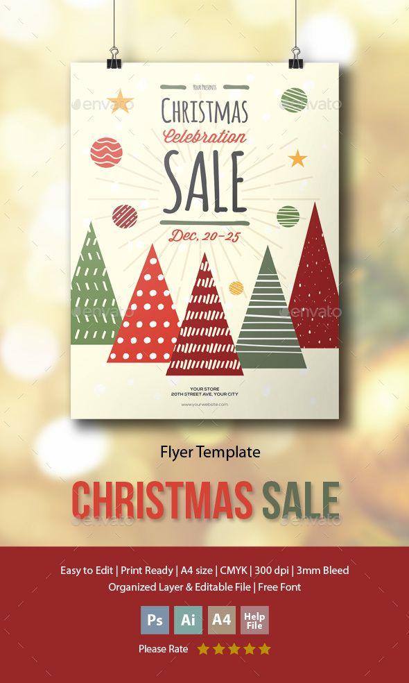 Christmas Sale Flyer / Poster Template PSD, AI Illustrator