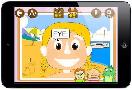 Ficha cuerpo humano contar bilingüe GRATIS para niños EDUCAPLANET #apps #learnenglish #kids #vocabulary #thebody #aprenderingles #ESL #ingles #vocabulario #bilingual #ipaded #edtech #schools #preschool