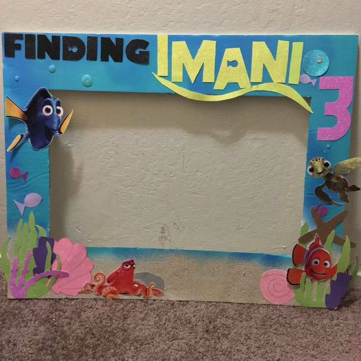 Finding Dory Photo Booth Frame Sharde Does It Herself