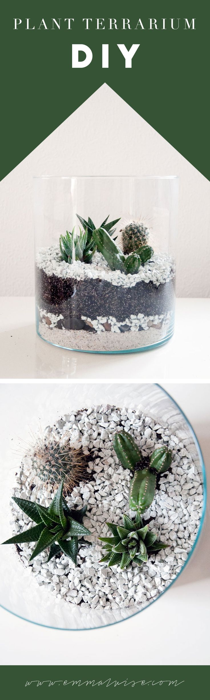 DIY: Kaktus Terrarium www.emmaluise.com (Diy Garden Vegetable)