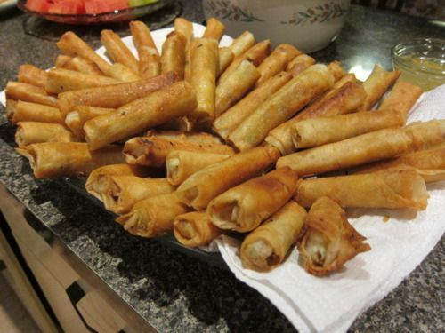 Oh how I miss lumpia... This recipe is for 150 rolls and it's hard to cut it down since it uses a single whole egg... but I'd like to try ti