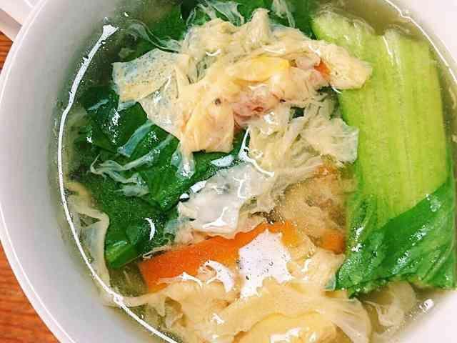 あったか!チンゲン菜の卵スープの画像