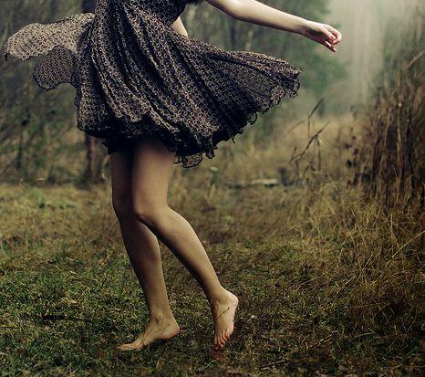 Dancing in a meadow