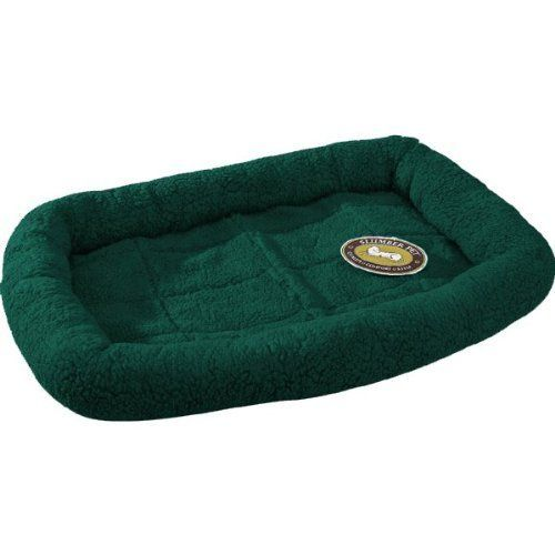 Special Offers - Slumber Pet Sherpa Crate Beds    Comfortable Bumper-Style Beds for Dogs and Cats  Large Forest Green - In stock & Free Shipping. You can save more money! Check It (July 11 2016 at 08:52AM) >> http://doghousesusa.net/slumber-pet-sherpa-crate-beds-comfortable-bumper-style-beds-for-dogs-and-cats-large-forest-green/