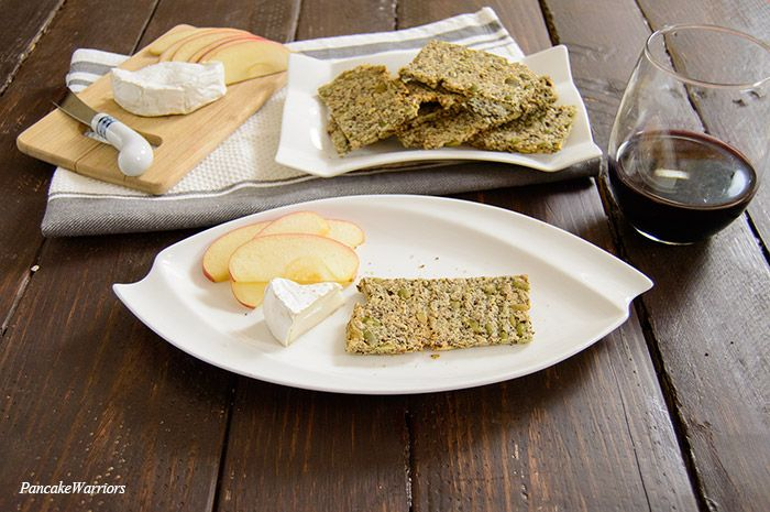 Crunchy, salty homemade pumpkin sunflower seed crackers. Regular boring crackers move over, these crunchy crackers are the new go to party food.
