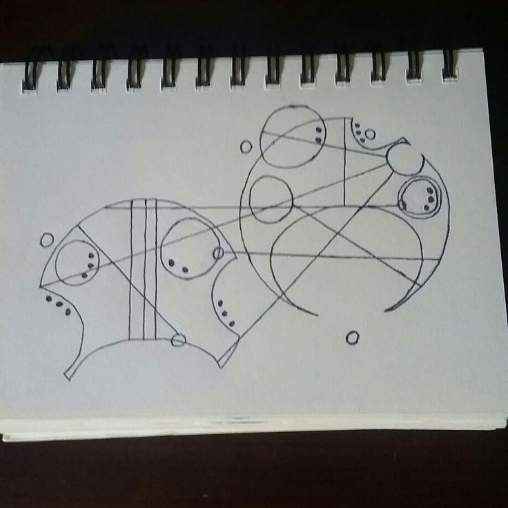 """Circular Gallifreyan"" Hand Drawn S.R."