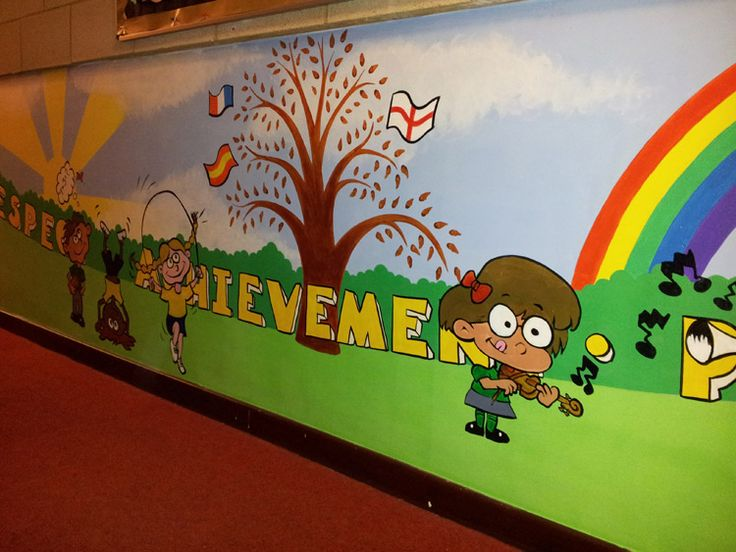 School entrance hallway wall mural | School | Pinterest ...