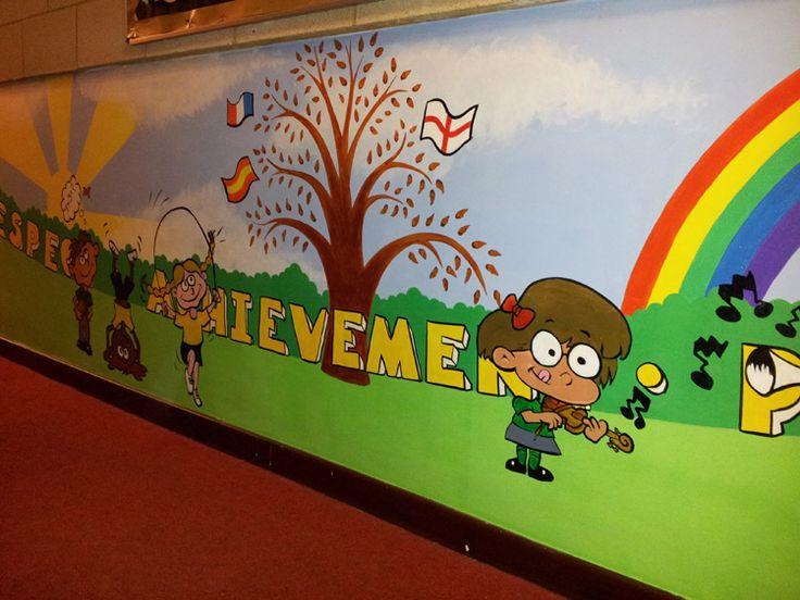 School Entrance Hallway Wall Mural School Hallway