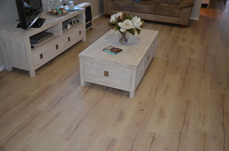 Vintage Laminate Flooring - Antarctic. Living room area.