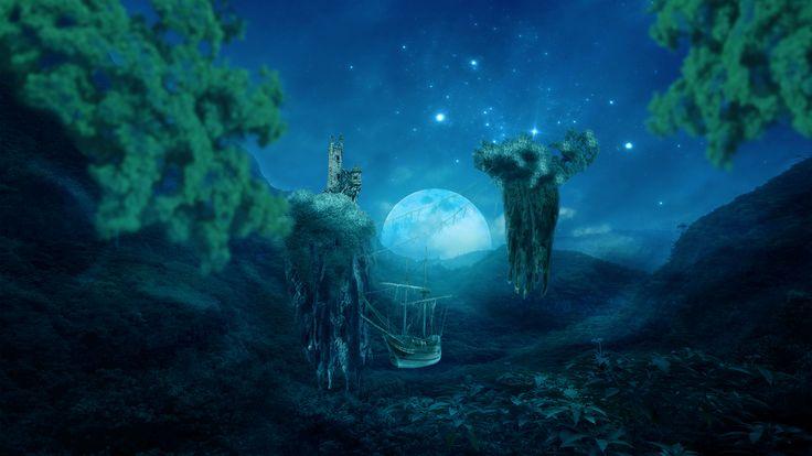 Floating Islands Fantasy by ednasnake.deviantart.com on @DeviantArt