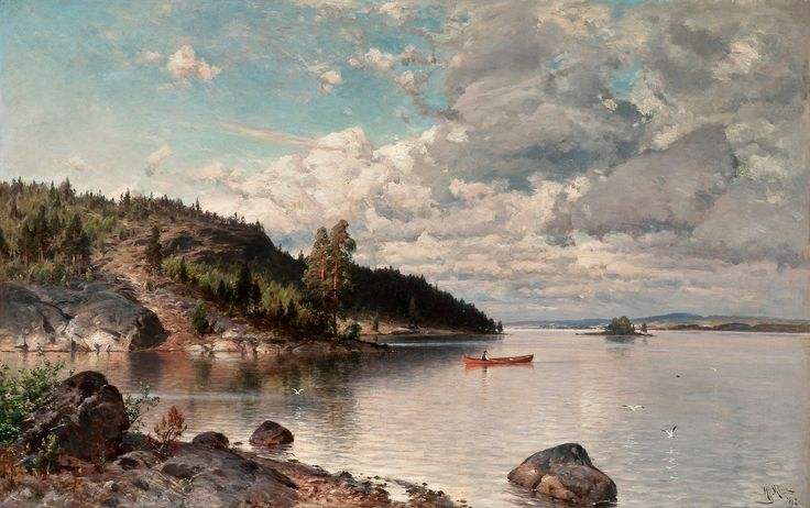 A WARM SUMMER DAY1892, oil on canvas, Hjalmar Munsterhjelm (1840-1905)