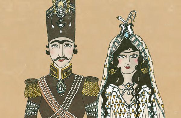 Iranian Wedding clothing.