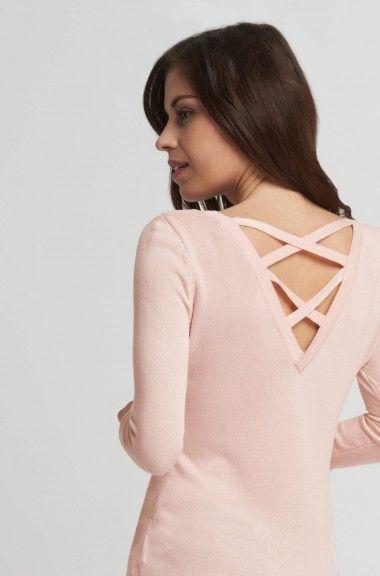 Sweter ze skrzyżowanymi ramiączkami