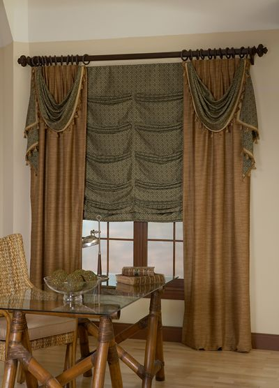Custom Draperies and Valances in classic or contemporary styles