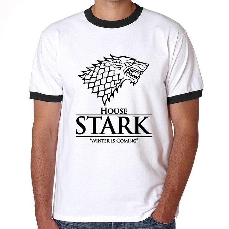 Unique Winter Coming Stark Men T Shirt Short Sleeve Game of Thrones Man T Shirt The House of Stark Wolf Design  //Price: $US $11.99 & FREE Shipping //     #asoiaf #gameofthrones #valarmorghulis #jonsnow #stark #lannister #daenerys #winteriscoming #targaryen #sansastark #khaleesi #robbstark  #khaldrogo #ayrastark