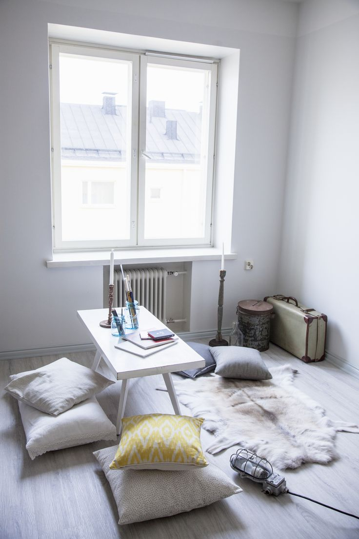 See and Feel Spatial Design, Finland - Livingroom / work space - vintage - white atmosphere