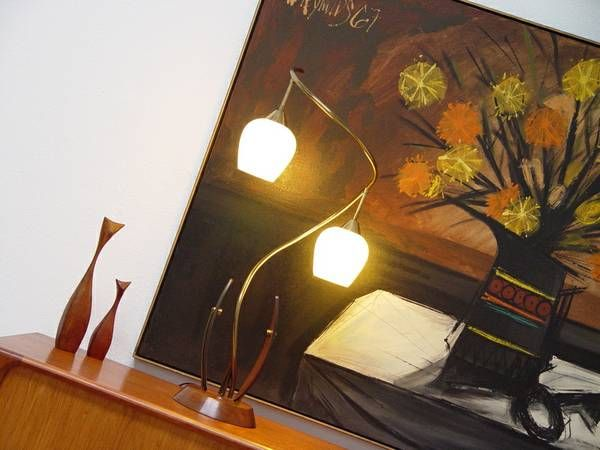 """craigslist, St. Petersburg, FL....Lee Reynolds Oil Painting Dated 1967 measures 61"""" Across by 49"""" Tall Lamp shown on Credenza 140.00.."""