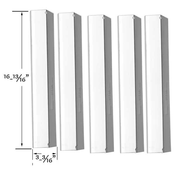 5 PACK STAINLESS STEEL HEAT SHIELD FOR SHINERICH SRGG41009, PRESIDENTS CHOICE 324687 & BRINKMANN 810-3820-S GAS MODELS Fits Compatible Shinerich Models : SRGG41009 Read More @http://www.grillpartszone.com/shopexd.asp?id=35719&sid=32930