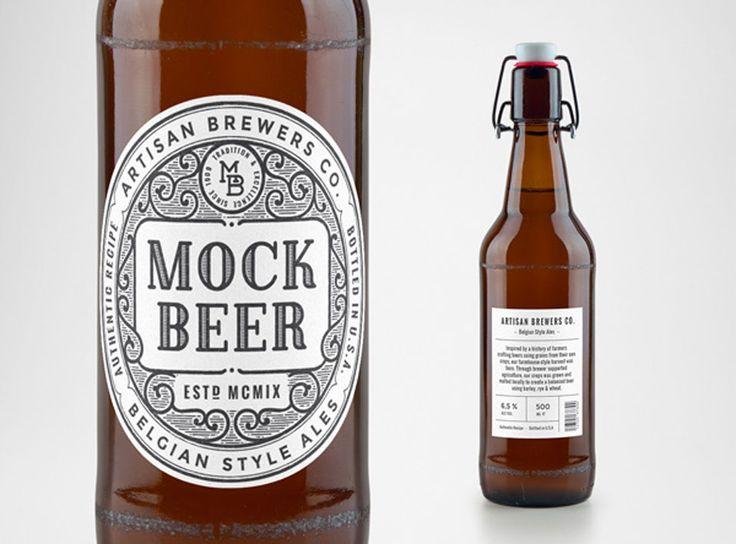Seguro que si estás trabajando en un diseño de etiquetas de cerveza, el mock up que te presentamos hoy te resultará interesante. Se trata de un mock up de p