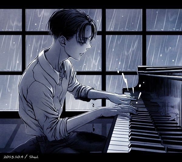 Levi playing piano. My life is complete. My ultimate love and my fictional love. Perfection! <3
