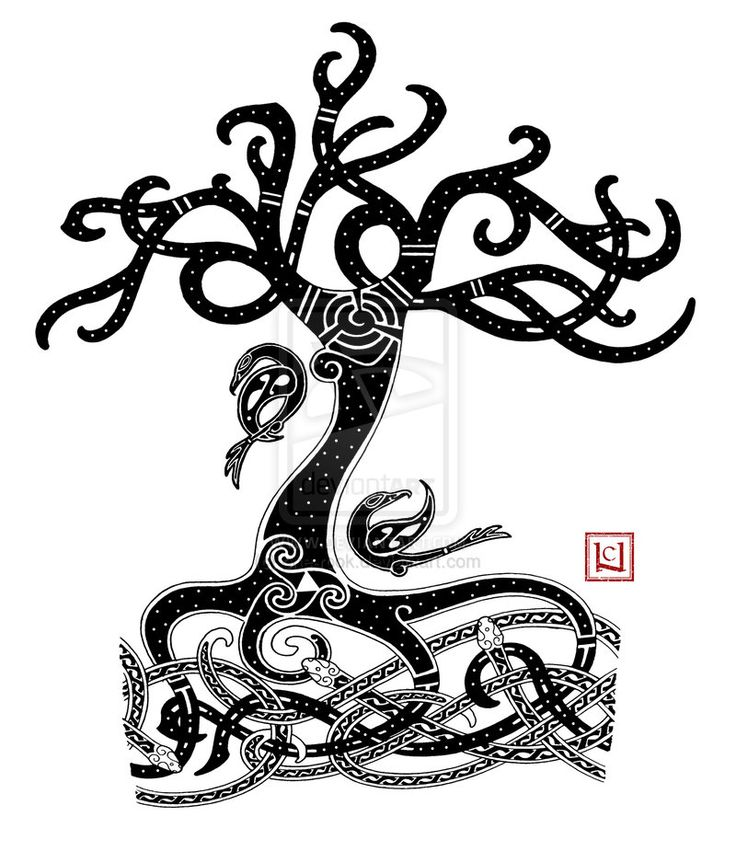 Yggdrasil Mammen-style tattoo commission by one-rook ...