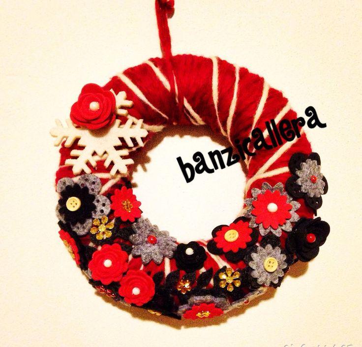 Ghirlanda rossa natalizia, by Banzicallera, 25,00 € su misshobby.com
