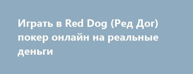 Играть в Red Dog (Ред Дог) покер онлайн на реальные деньги http://onlineigrynadengi.net/krasnaya-sobaka-red-dog.html  Онлайн Red Dog игровой автомат на деньги создан для желающих сыграть в покер, но не заморачиваться изучением правил и выигрышных комбинаций. На фишки играть Красная Собака приглашает в демо, а Ред Дог на рубли - уже не просто забава, а источник дохода
