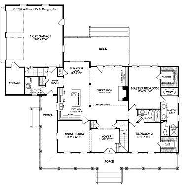Calabash Cottage (HWBDO67493) | Cottage House Plan from BuilderHousePlans.com